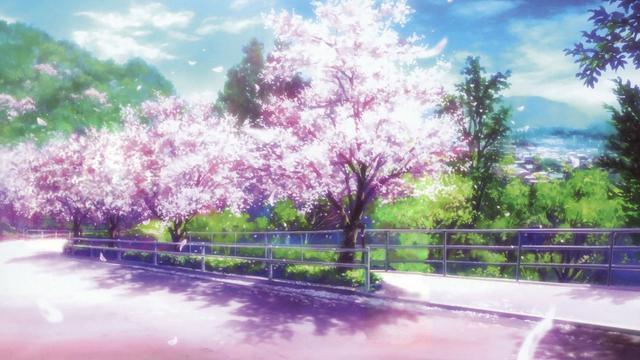 <唯美动漫樱花场景,高清壁纸,图片,时光记忆