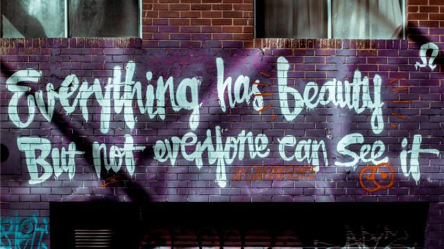 <墙上的创意字,高清壁纸,摄影图片,静物写真
