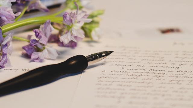 <精致漂亮的钢笔,高清壁纸,摄影图片,静物写真