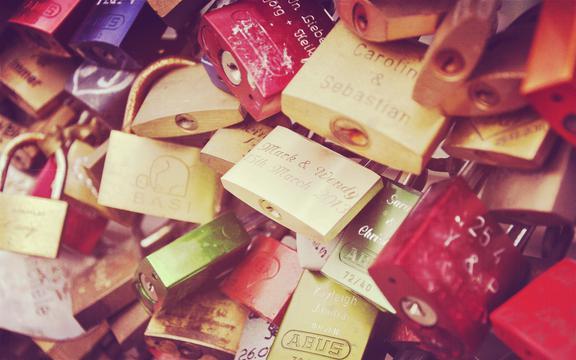 <唯美的情人锁,高清壁纸,摄影图片,静物写真