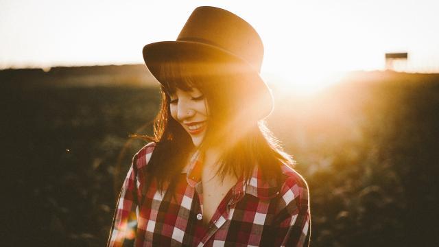 <戴帽子的女孩,高清壁纸,图片,时光记忆
