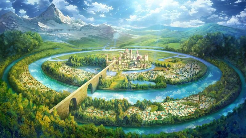 美丽梦境城堡 仙境风景