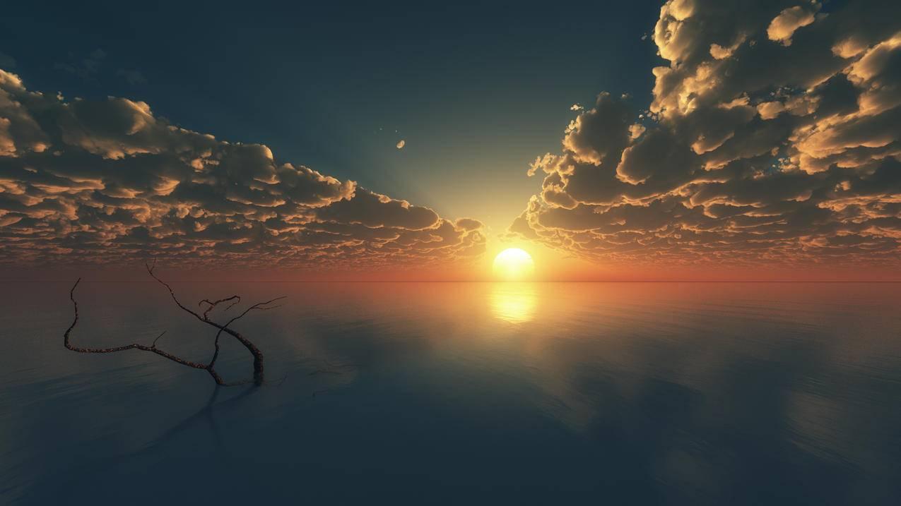 天空云日落风景4k壁纸 Tt98图片网