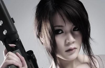 <軍事美女酷黑高清壁紙