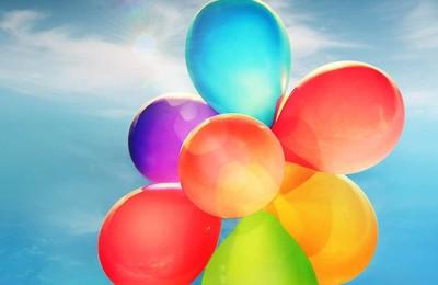 小清新氣球七彩氣球可愛