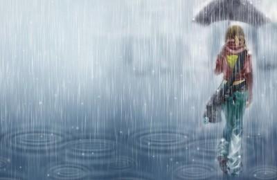 小清新温馨一刻雨高清壁纸