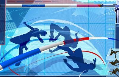 <體育奧運項目跳高卡通版手繪高清壁紙
