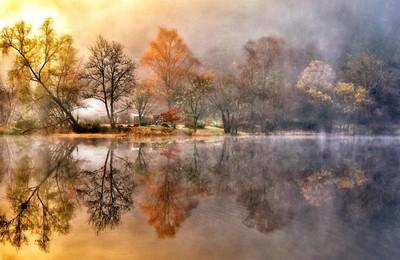 湖泊秀美仙境高清壁纸