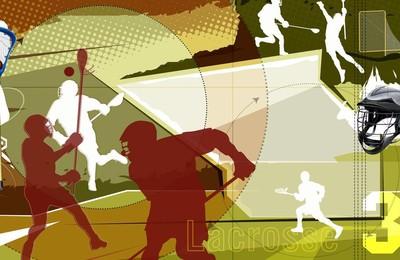 <體育運動項目手球卡通版手繪高清壁紙