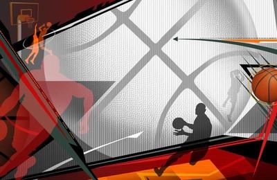 <體育奧運項目籃球手繪高清壁紙