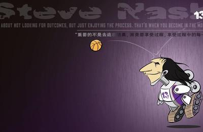 <体育NBA纳什卡通高清壁纸