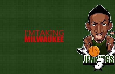 <体育NBA卡通球星漫画高清壁纸