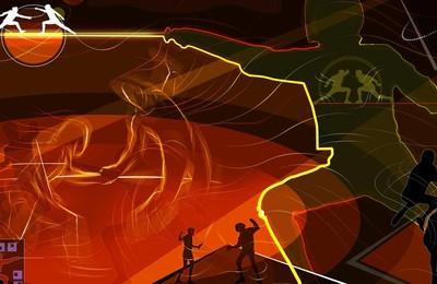 <體育奧運項目擊劍卡通版手繪高清壁紙