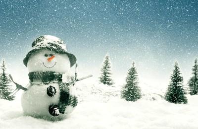 小清新温馨一刻雪人高清