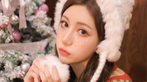 圣誕節美女頭像圖片