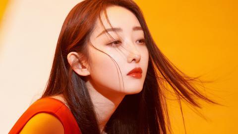 蒋梦婕性感红裙壁纸
