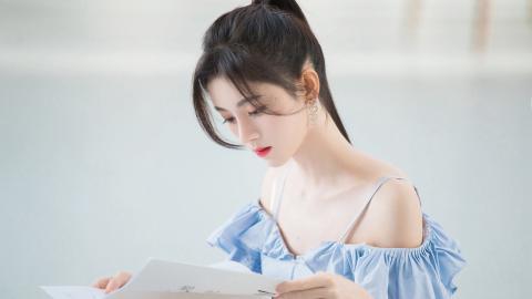 鞠婧祎吊带裙性感图片