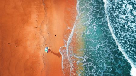 橙色海灘航拍