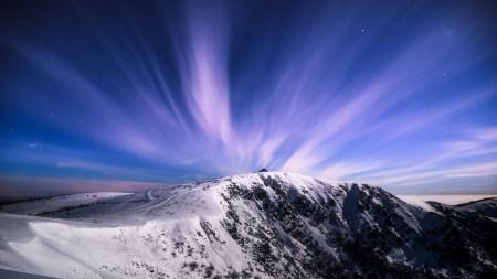 冬天的雪山之巅