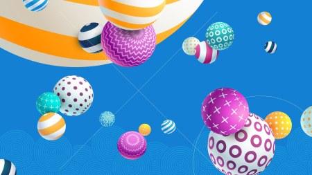3D彩色球体